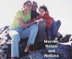 Marvan with Neluni and Nethma