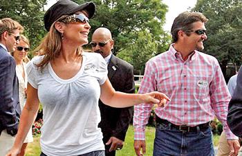 Sarah Palin with Husband Brad Hanson